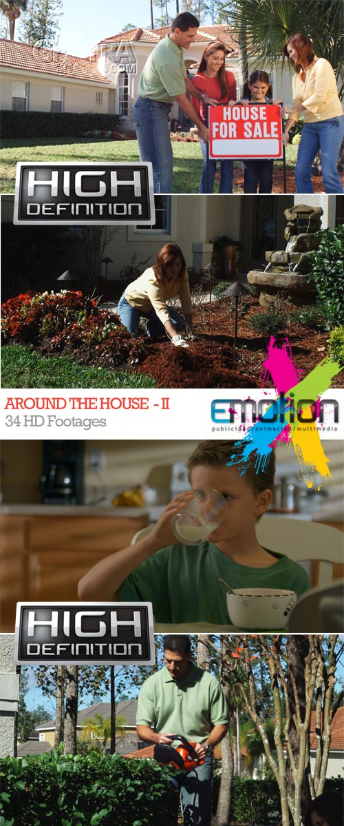 Around the House-II, 34 HD Footages