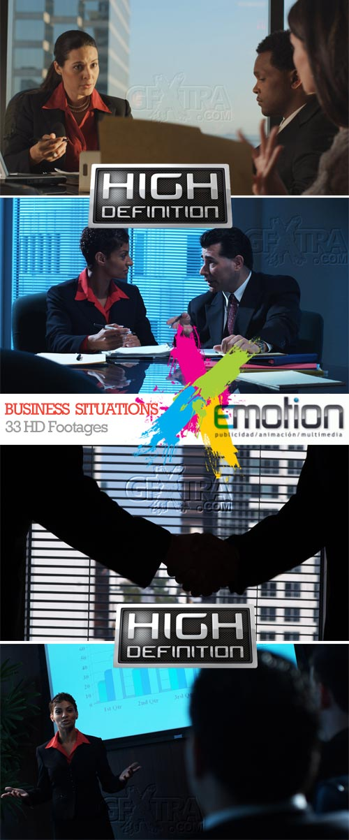 Business Situations, 33 HD Footages