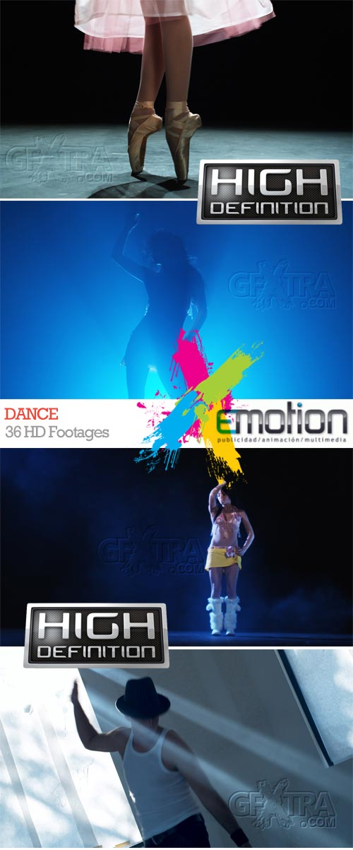 Dance, 36 HD Footages