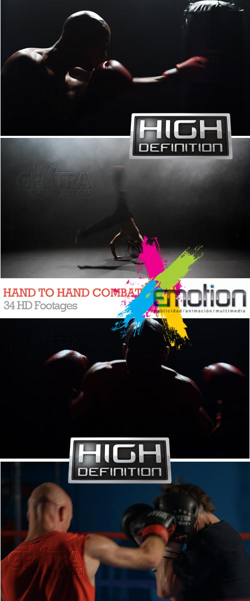 Hand to Hand Combat, 34 HD Footages