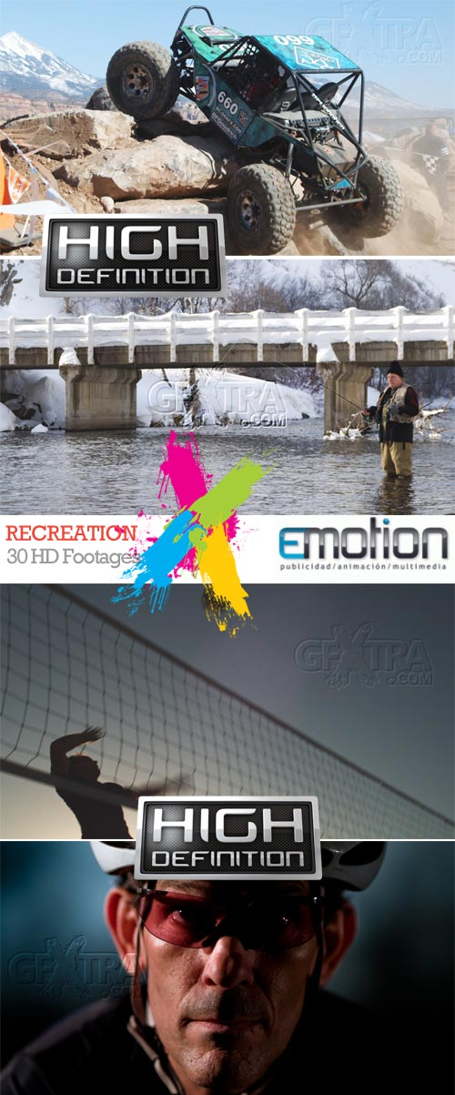 Recreation, 30 HD Footages