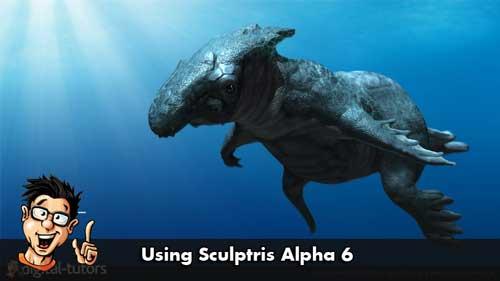 《顶级雕刻软件Sculptris Alpha 6 训练教程》Digital-Tutors Using Sculptris Alpha 6