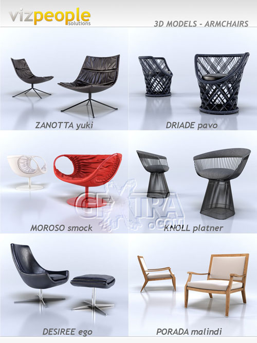 Armchairs, 3D Models Collection - VizPeople