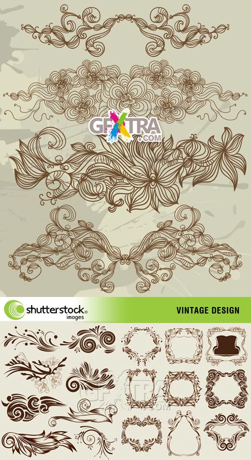 Vintage Design 3xEPS - SS vector