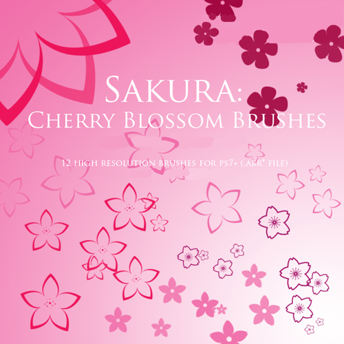 Sakura Cherry Blossom Brushes