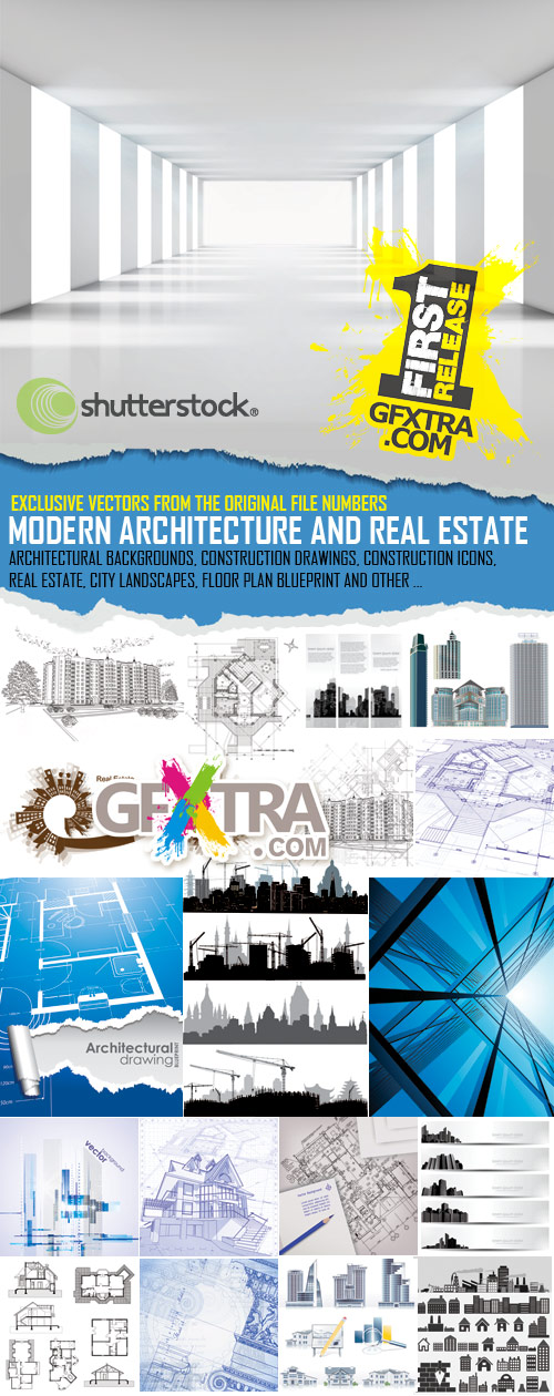 Modern Architecture and Real Estate, 50xEPS - SS