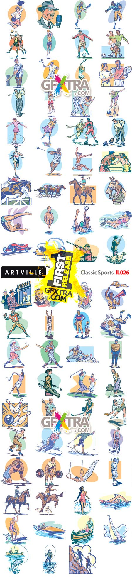 Artville Illustrations IL026 Classic Sports, 75xEPS