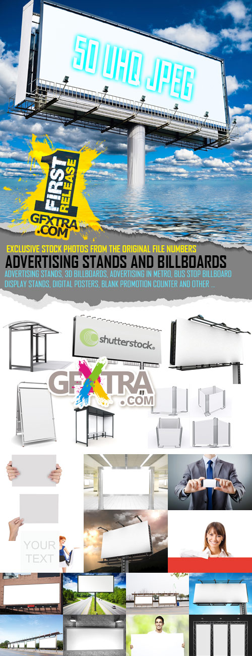 Advertising Stands and Billboards - 50 UHQ JPGs SS