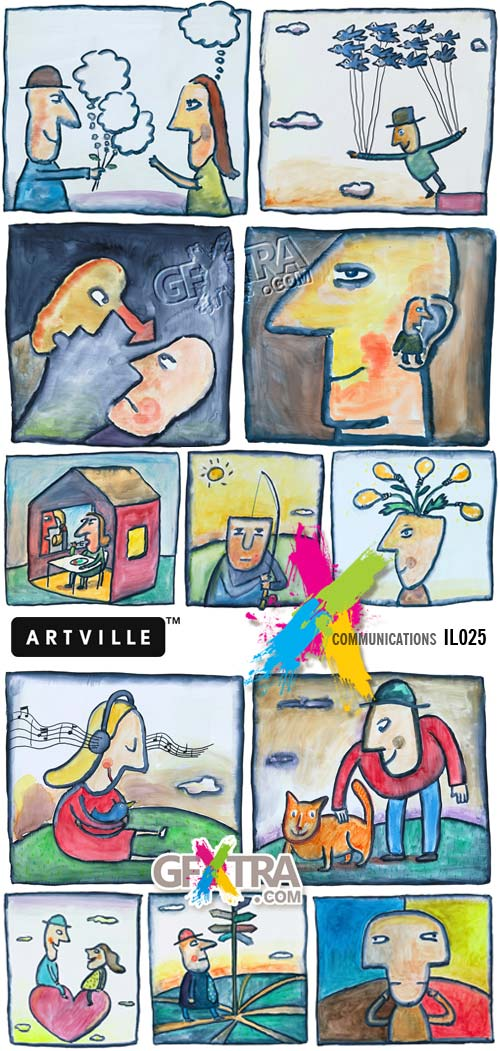 ArtVille Illustrations IL025 Communications