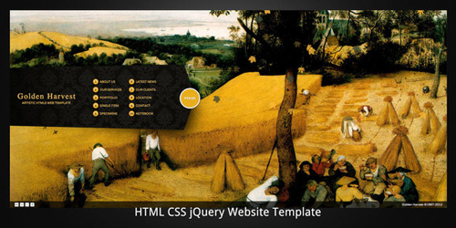 ThemeForest - Golden Harvest?HTML5 business/portfolio template - Rip