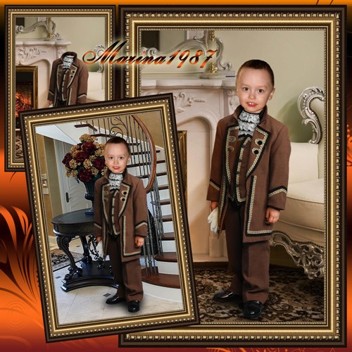 Children template - A little gentleman in a stylish suit
