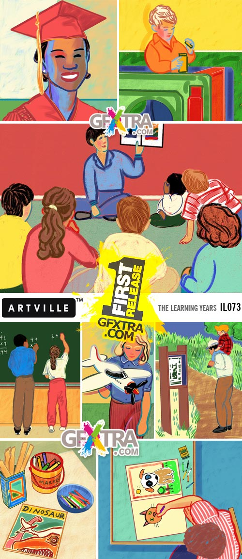ArtVille Illustrations IL073 The Learning Years