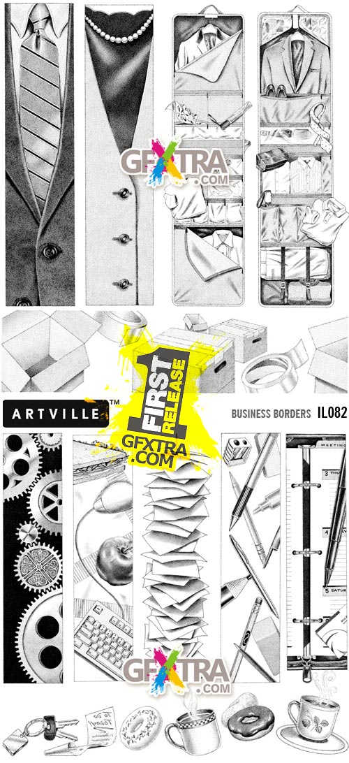 ArtVille Illustrations IL082 Business Borders