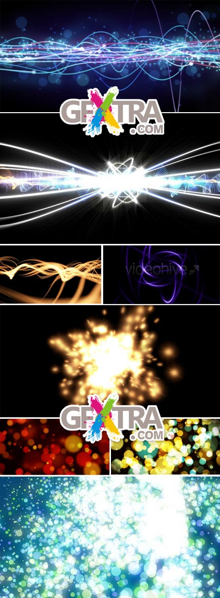8 Motion Graphic Backgrounds - VideoHive