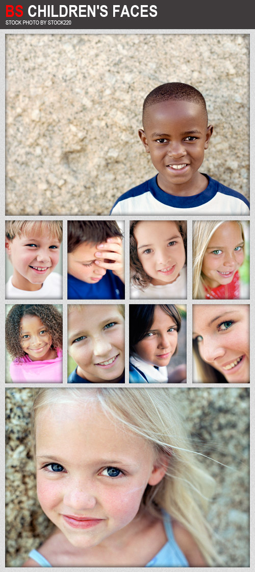 Stock Photo - BS Children's Faces