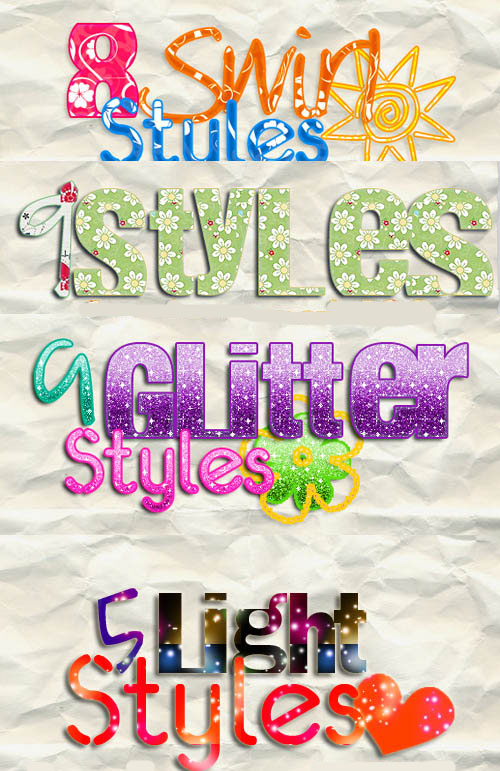Swirl, Glitter and  Light Styles