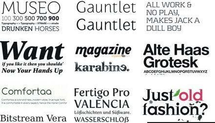 Collection of HQ Fonts For Professional Designers