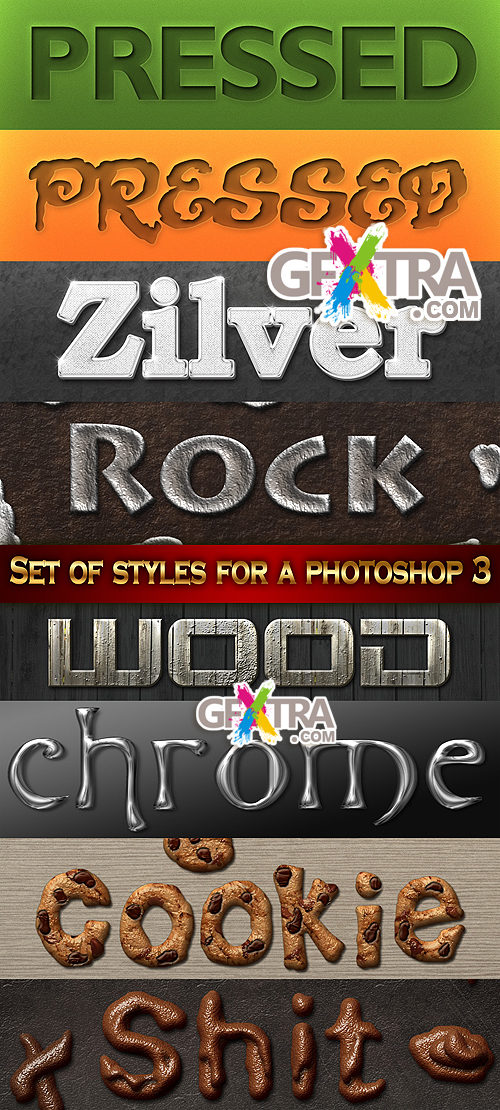 Set of styles for a photoshop 3