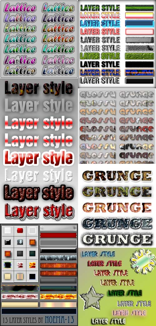 Layer styles for Photoshop pack 8