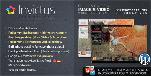 ThemeForest - Invictus v2.2.1 - Premium Photographer Portfolio Theme