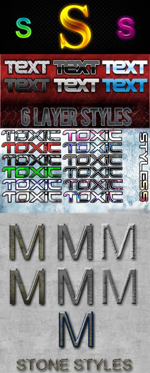 Text layer styles for Photoshop pack 10