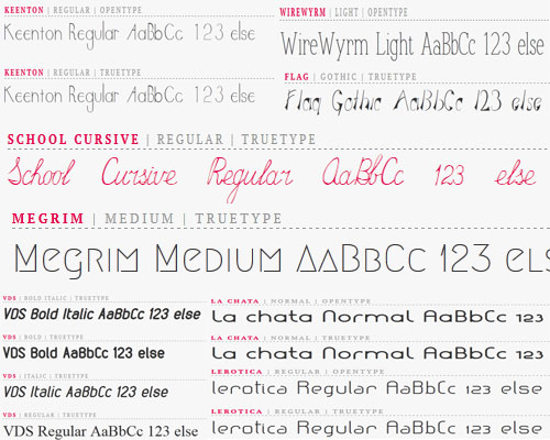 8 Open Font Library Fonts