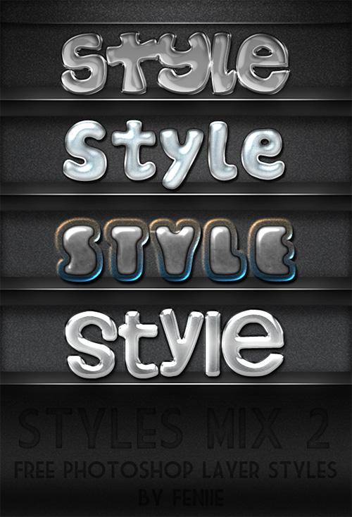 PSD Text Style 2012 - Shiny Metal