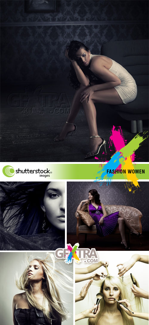 Fashion Women 5xJPGs - Shutterstock