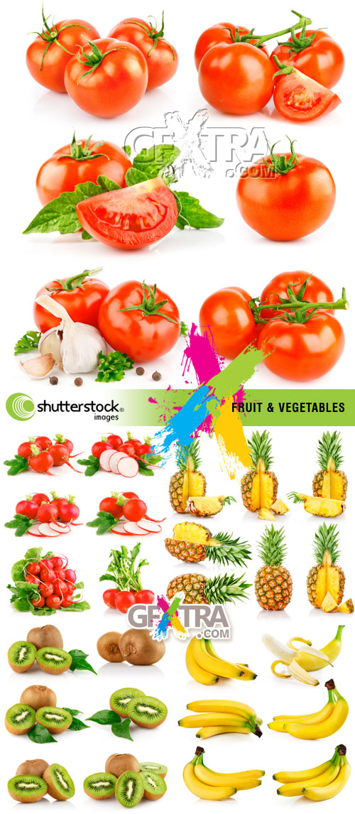 Fruit & Vegetables 5xJPGs - Shutterstock