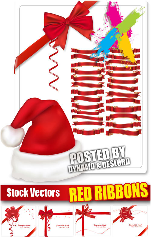 Red ribbons - Stock Vectors