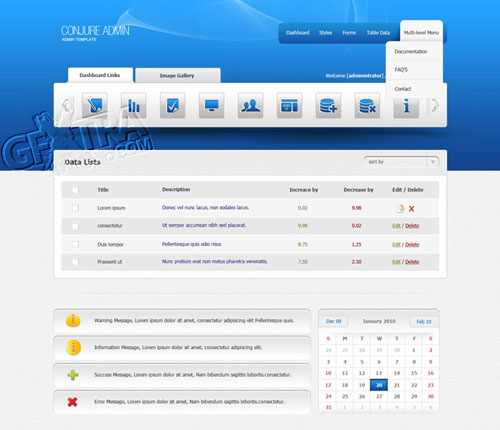 Admin Template 10 - Administration, Retail - TemplateWorld