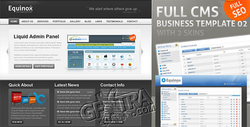 Full CMS Business Template with 2 Skins - ThemeForest