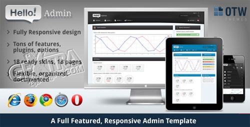 Hello Admin - a Full Featured Admin Template - TemplateForest