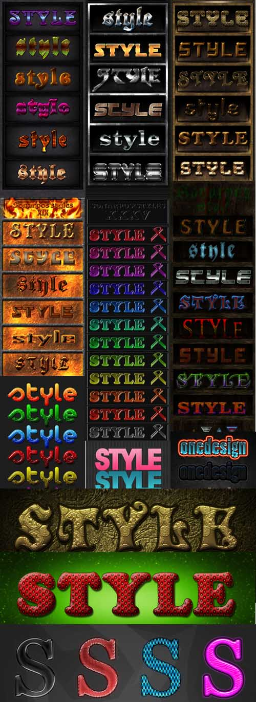 Text layer styles for Photoshop pack 18