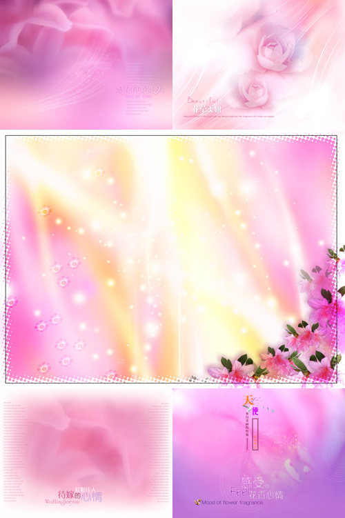 Pink backgrounds psd