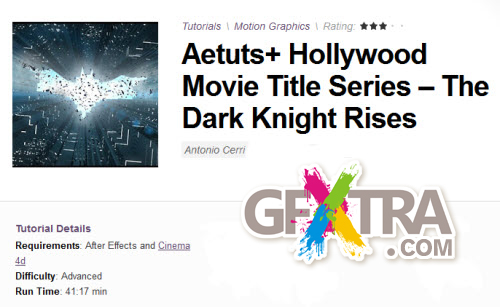 Aetuts+ Hollywood Movie Title Series – The Dark Knight Rises