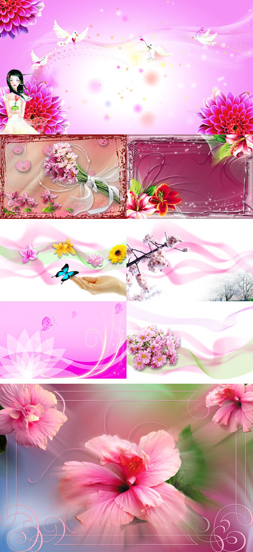 PSD flowers collection for Photoshop 2011 pack # 75