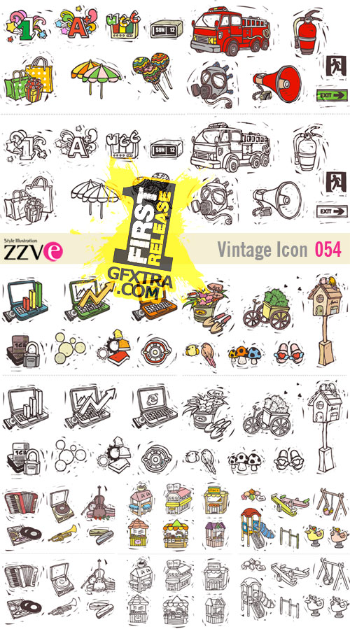 ZZVe 054 Vintage Icon EPS