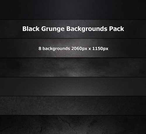 8 Hi-res black grunge backgrounds