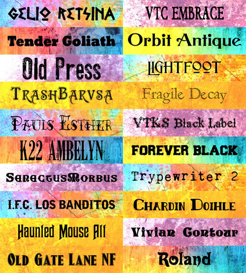 20 Old School Fonts Collection