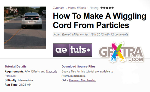 Aetuts+ How To Make A Wiggling Cord From Particles