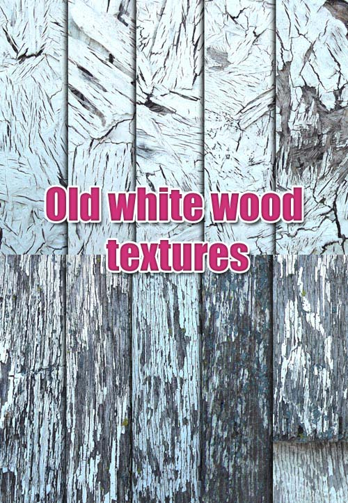 Old White Wood Textures