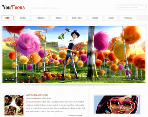 YouJoomla - YouToons-Joomla! Cartoons Template for J1.5 & J1.7