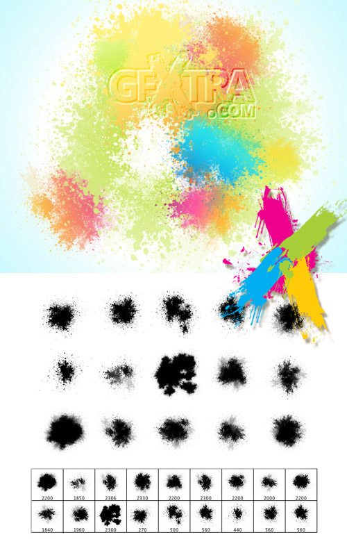 Fine Spatters Brushes set
