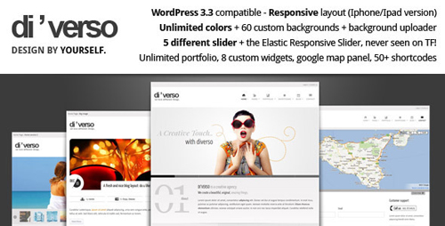 ThemeForest - Di?verso v1.1 - Flexible WordPress Theme
