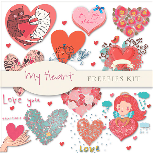 Scrap-kit - My Heart PNG Cliparts - Valentine's Day 2012