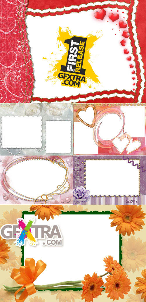 Collection of Photo frames for Valentine\'s Day pack 9