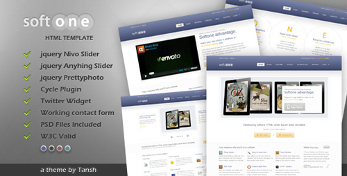ThemeForest - Softone Software / App HTML Template - Rip