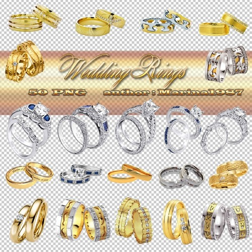 Clip Art on a transparent background - Wedding Rings