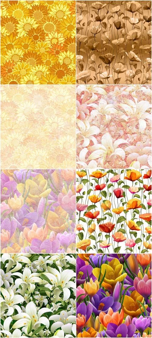 New 2012 Creative Romantic And Floral Colored Textures Vol.2